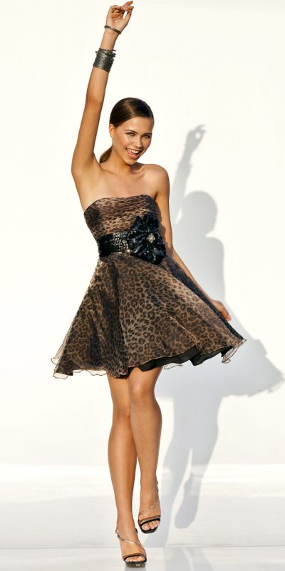 Hot Leopard Print Short Homecoming Party Dress by Blush 9286 ...