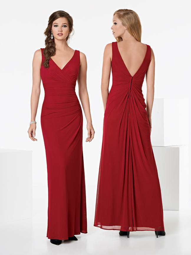 Jordan 930 v neck long bridesmaid dress french novelty for Immediate resource wedding dresses