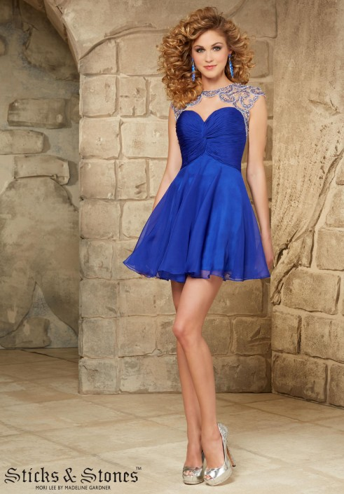 c392d439a88 Sticks and Stones 9354 Short Homecoming Dress  French Novelty