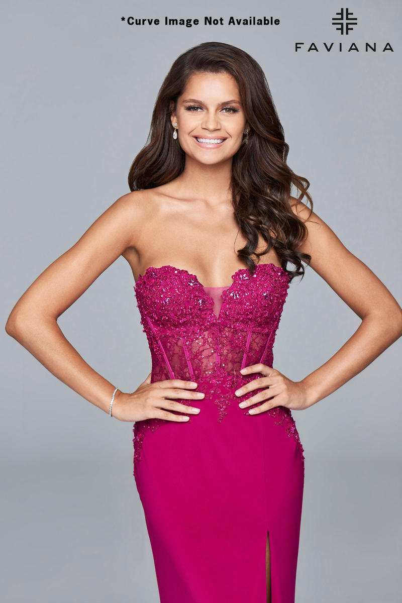 Faviana Curve 9412 Plus Size Corset Prom Dress