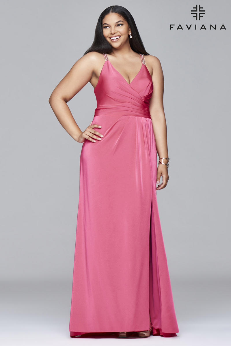 Plus size celebrity evening dresses by faviana couture