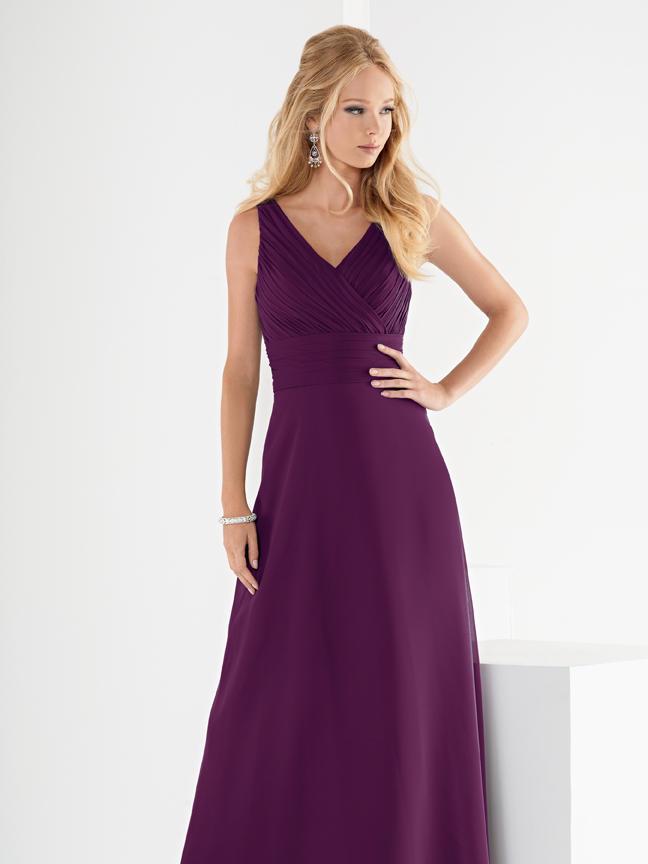 Jordan 942 V Neck Long Bridesmaid Dress: French Novelty