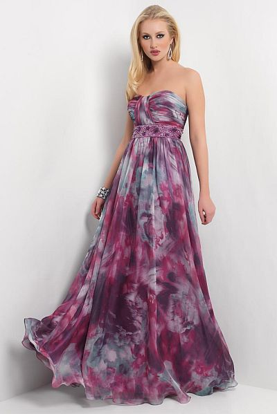 Prom floral print chiffon long homecoming dress 9435 french novelty