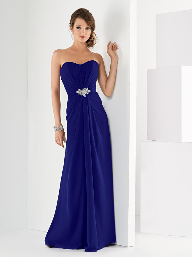 Jordan 944 strapless bridesmaid gown french novelty for Immediate resource wedding dresses
