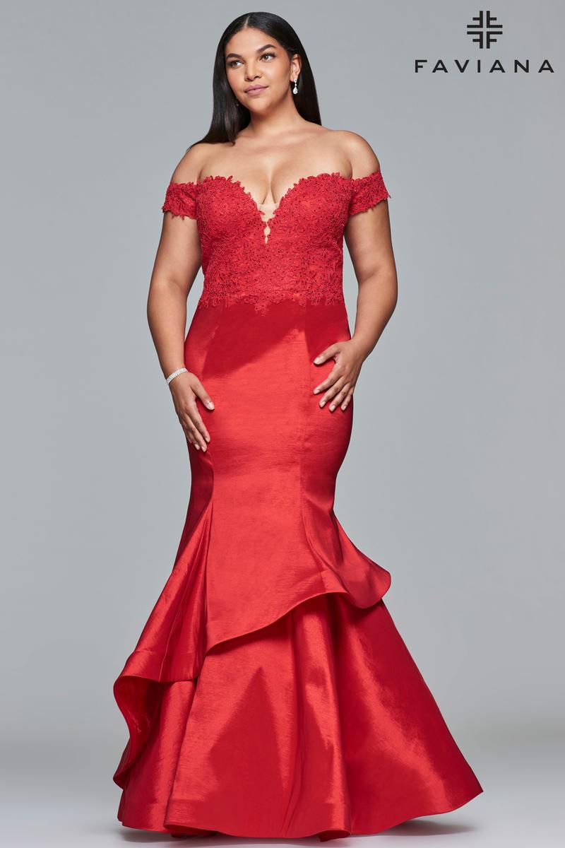 Faviana Curve 9440 Plus Size Mermaid Prom Dress: French