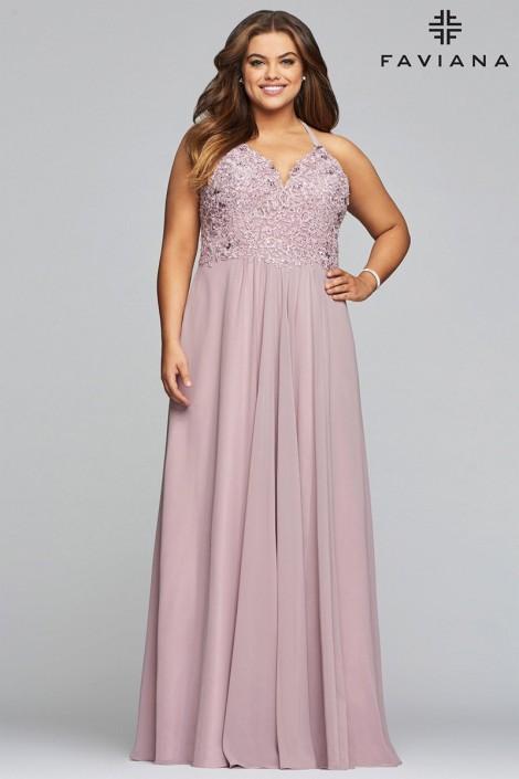 Faviana Curve 9445 Beautiful Plus Size Prom Dress