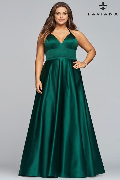 Faviana Curve 9466 Shimmering Plus Size Prom Dress