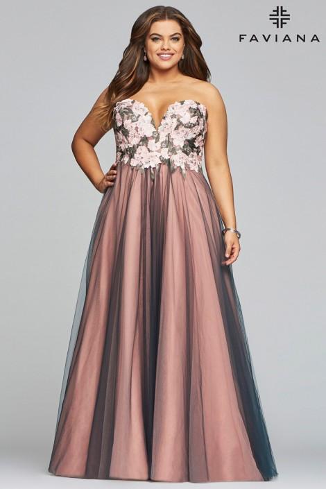 Faviana Curve 9467 Plus Size Princess Ball Gown