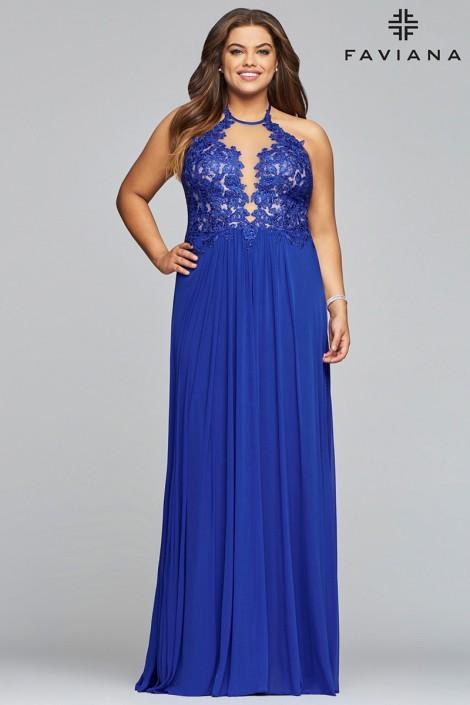 Faviana Curve 9472 Beautiful Plus Size Prom Dress French Novelty