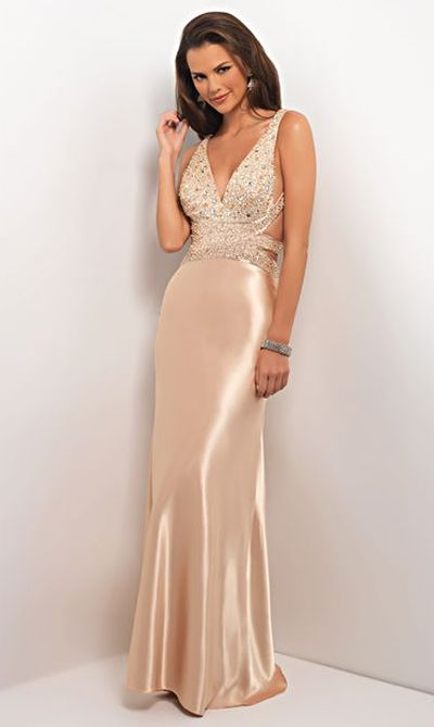 Blush By Alexia Beaded Satin Formal Dress 9529 French Novelty