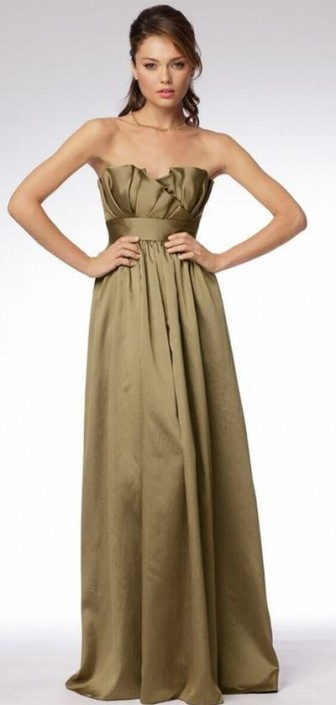 Wtoo Long Crumb Catcher Bridesmaid Dress With Pockets 955