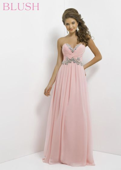Blush Wedding Dress Petite : Blush pleated bust evening dress french novelty