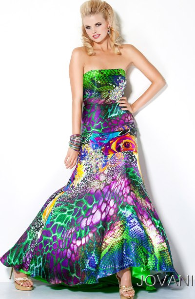 Jovani Peacock Prom Dresses Multi