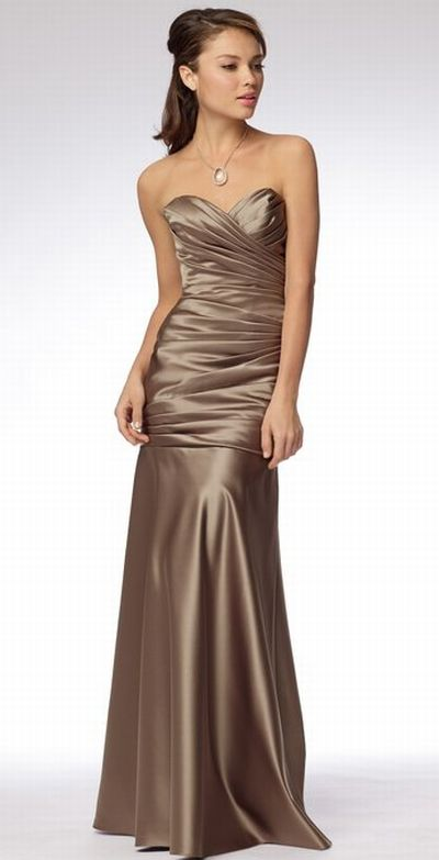Wtoo ruched mermaid long satin bridesmaid dress 966 for Immediate resource wedding dresses
