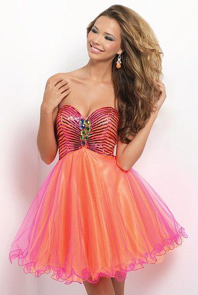 Blush 9660 Short Flowy Homecoming Dress  French Novelty b81af0a4bcf6
