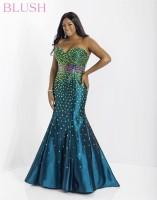 Blush W 9704W Plus Size Mermaid Dress image