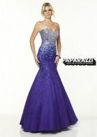 Mori Lee Paparazzi 97050 Ombre Jeweled Mermaid Dress image