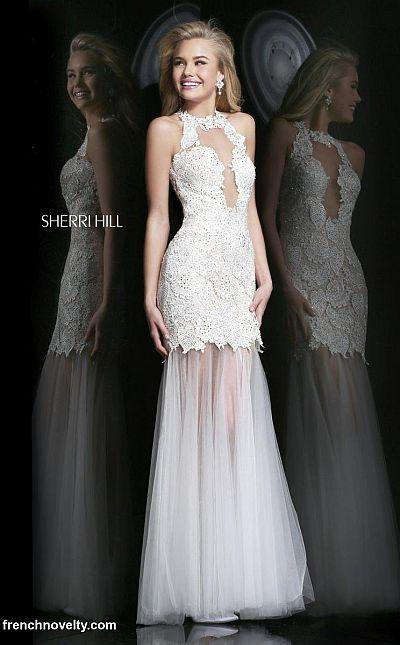 Sherri Hill 9711 Cut Out Illusion Mermaid Dress