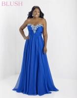 Blush W 9717W Plus Size Flattering Formal Dress image