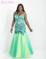Blush W 9722W Plus Size Mermaid Dress image