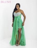 Blush W 9740W Plus Size High Low Dress image