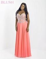 Blush W 9758W Plus Size Formal Dress image