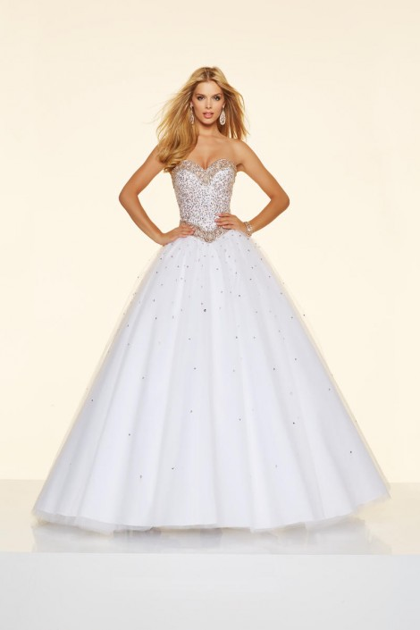 Mori Lee Paparazzi 98014 Jeweled Ball Gown: French Novelty