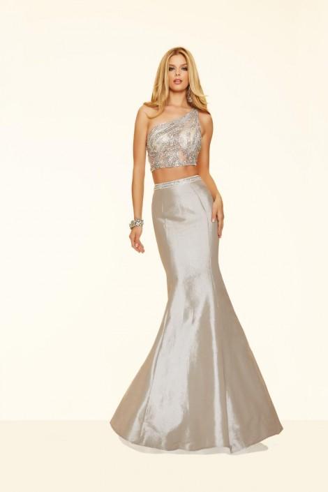 696b69579f07 Mori Lee Paparazzi 98039 One Shoulder 2pc Sequin Mermaid Dress: French  Novelty