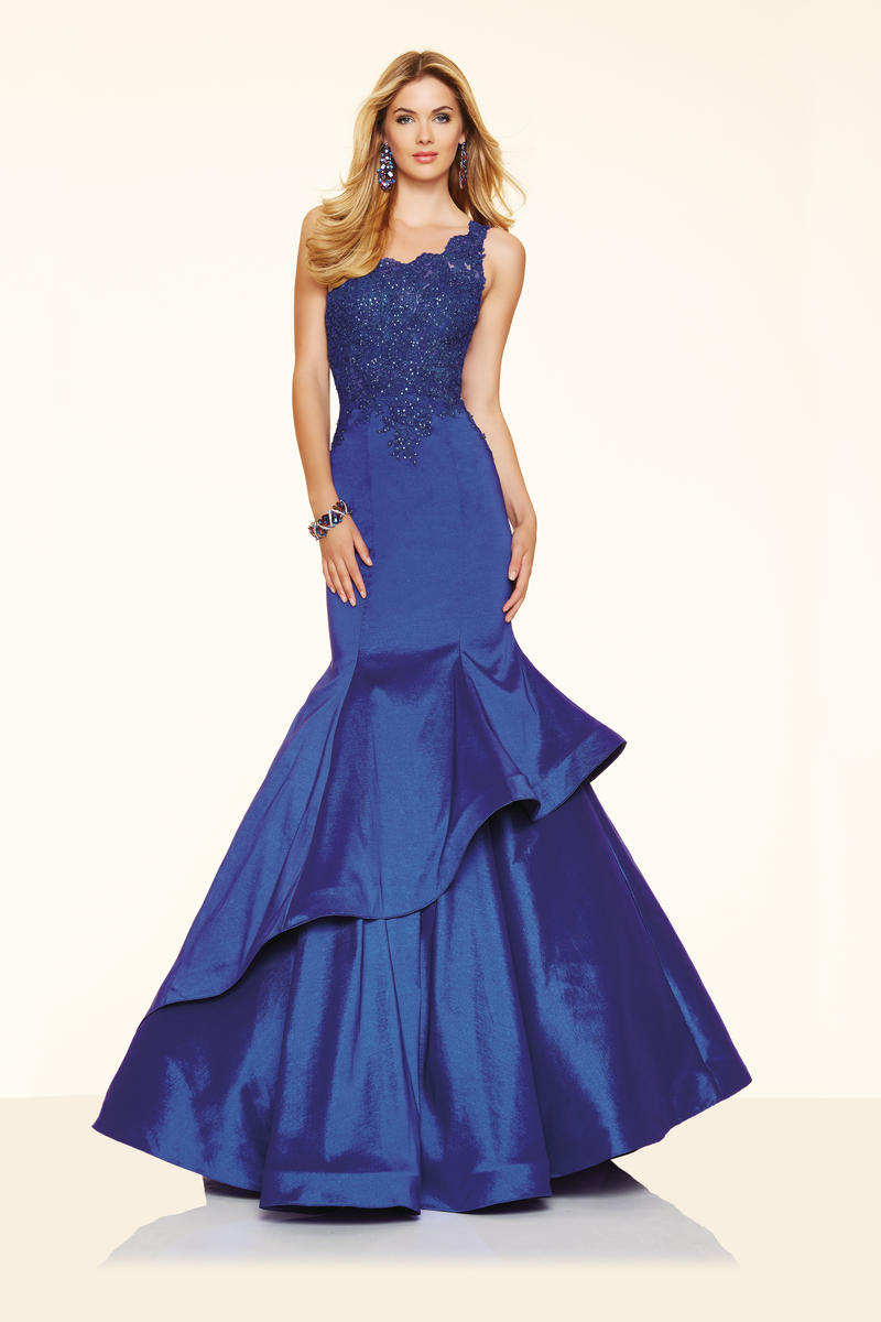 Mori Lee Paparazzi 98043 One Shoulder Layered Mermaid Dress: French ...