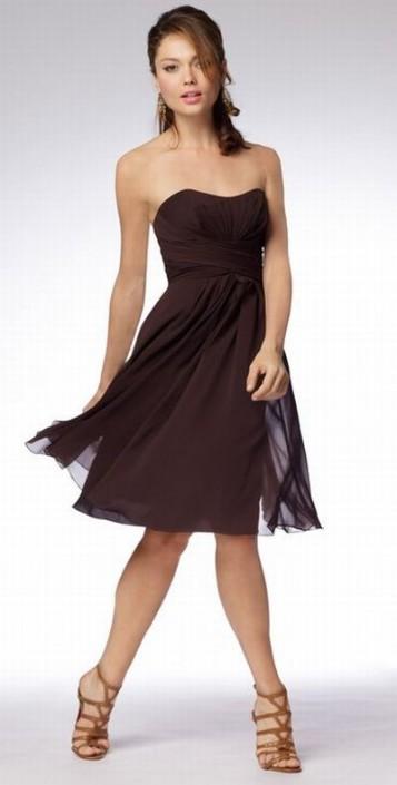 Wtoo Short Strapless Crinkle Chiffon Flowy Bridesmaid Dress 985 ...