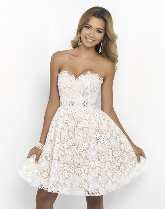 Blush 9900 Short Flower Party Dress: French Novelty