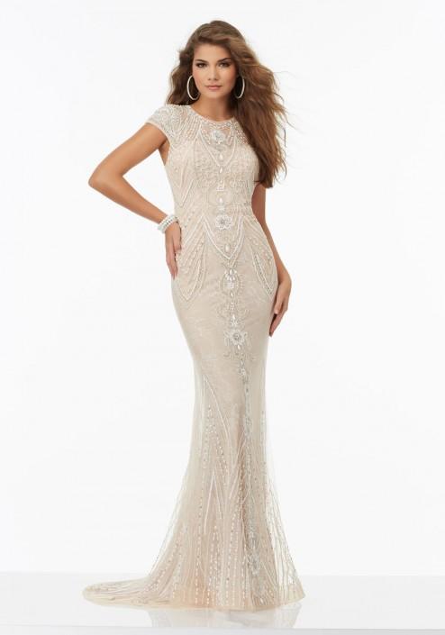 Morilee 99113 Fully Beaded Prom Dress: French Novelty