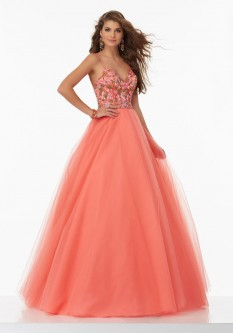 Coral Evening Dresses: French Novelty