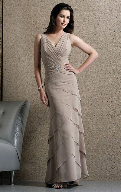 Jovani Chiffon Tiered Evening Dress 9914: French Novelty