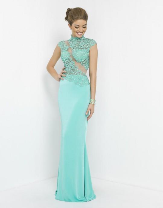 Blush 9945 Asymmetrical Prom Dress: French Novelty