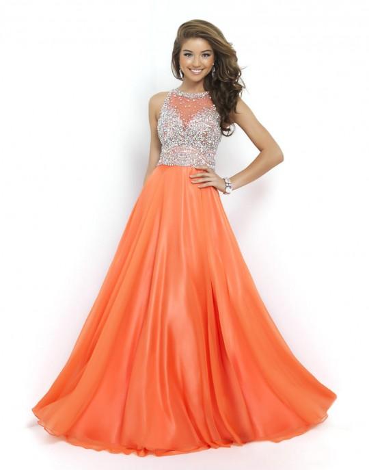 Blush 9947 Flowy Prom Dress: French Novelty