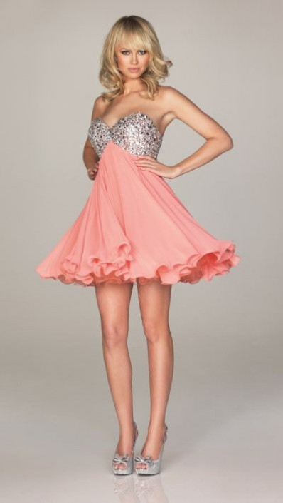 Night Moves A460 Baby Doll Short Dress With Corset Back French Novelty