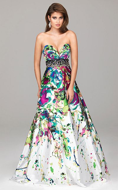 Bold Print Prom Dresses - Holiday Dresses