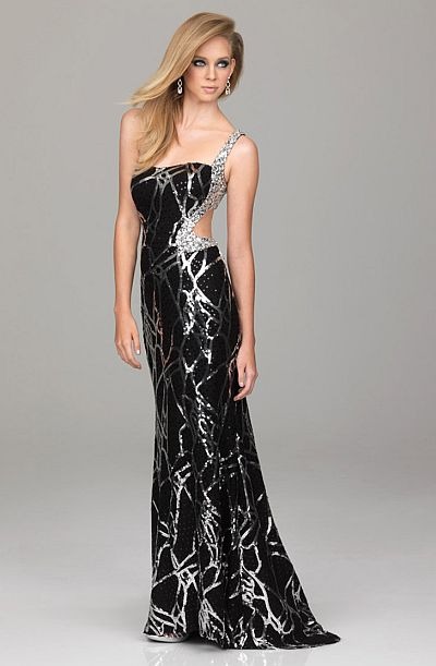 Evenings by Allure Slim Fitting Sequin Prom Dress A529: French Novelty