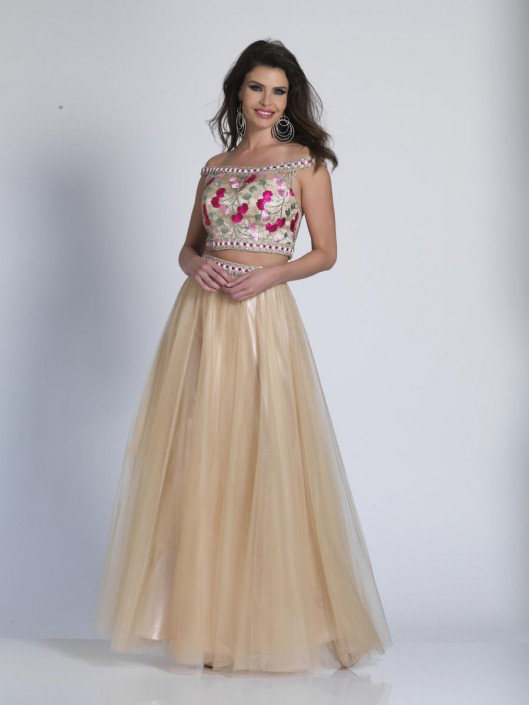 69731e5a52e0 Dave and Johnny A6079 Colorful 2 Piece Prom Dress: French Novelty