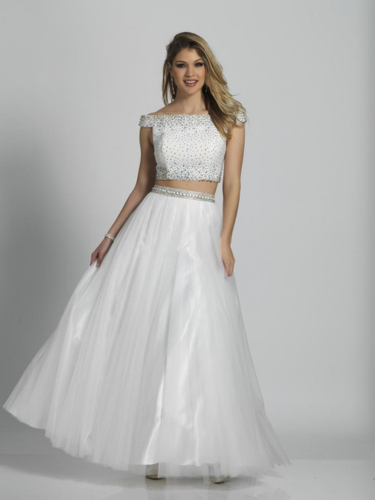 4c8f249a7fed Dave and Johnny A6092 Beaded 2 Piece Prom Dress: French Novelty