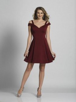 821761f4a8 Dave and Johnny A6109 Off the Shoulder Short Dress