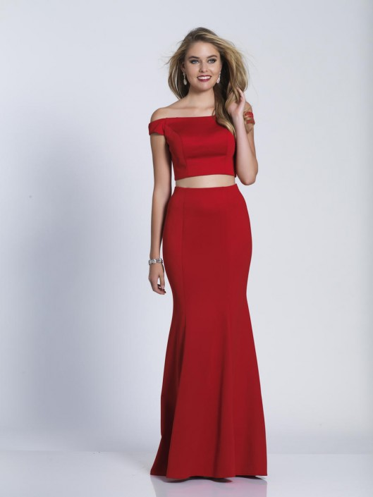 6b38de56cae3 Dave and Johnny A6153 Off Shoulder 2 Piece Prom Dress: French Novelty