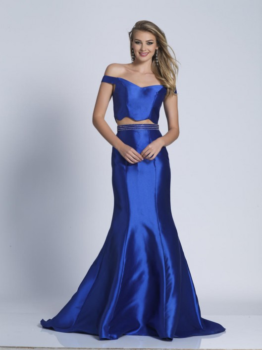 0ece6d40bf1b Dave and Johnny A6271 Ruffle Back 2 Piece Prom Dress: French Novelty