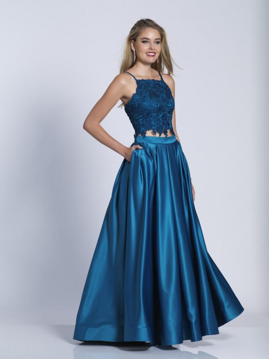Dave and Johnny A6394 Two Piece Gown with Pockets: French Novelty