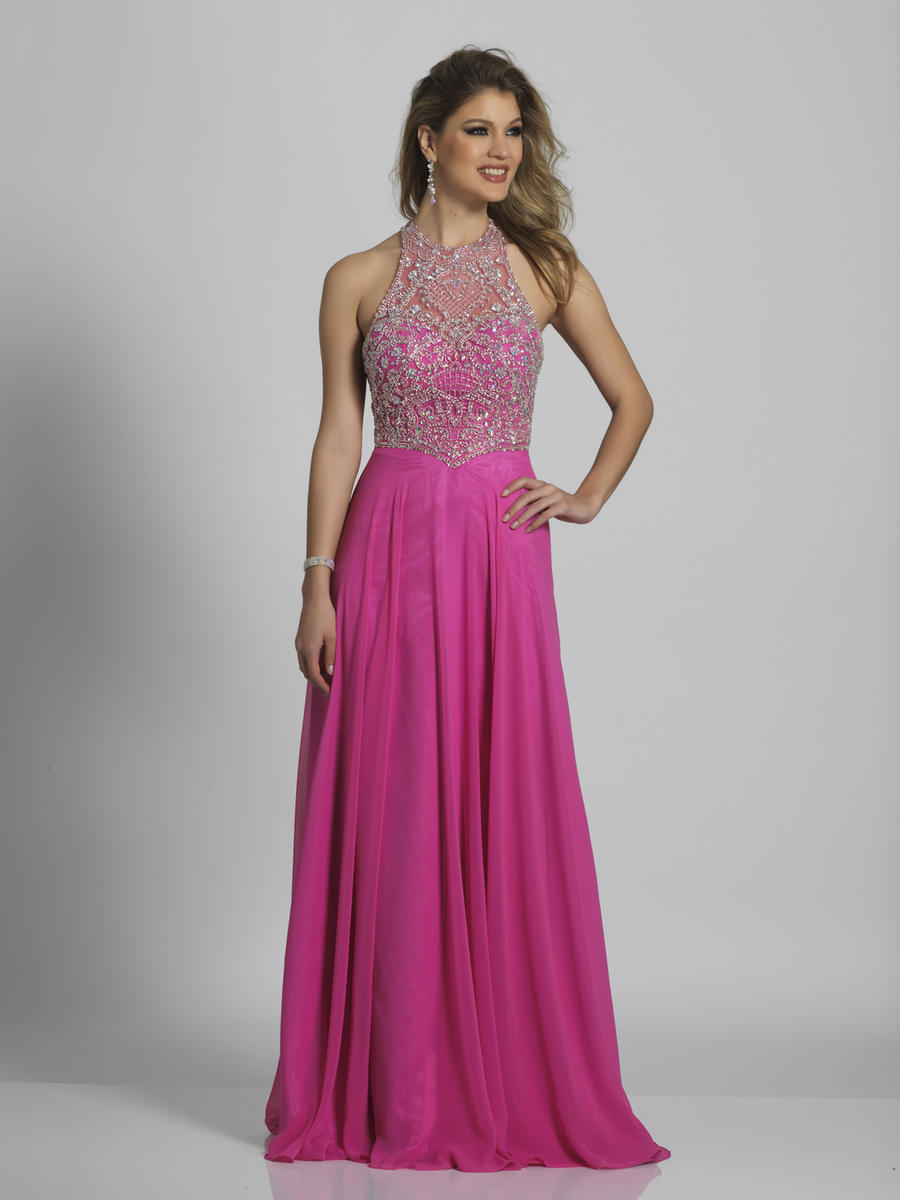 Dave and Johnny A6610 Beaded Racerback Prom Dress: French Novelty