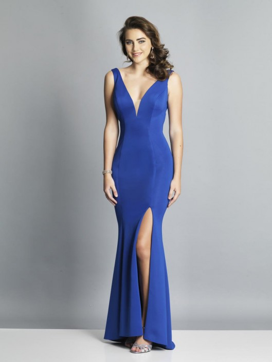 bae2a3bdd Dave and Johnny A7025 Strappy Back Prom Gown: French Novelty