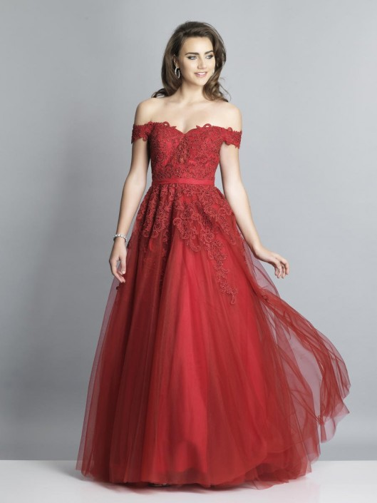 1ead8eed81703f Dave and Johnny A7314 Off Shoulder Prom Gown: French Novelty
