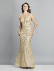 1cbfde8ed49 Size 14W Dave and Johnny A7787 Gold Prom Gown