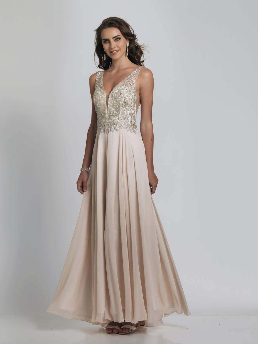 Johnny A8531 Gown With Side Cutouts